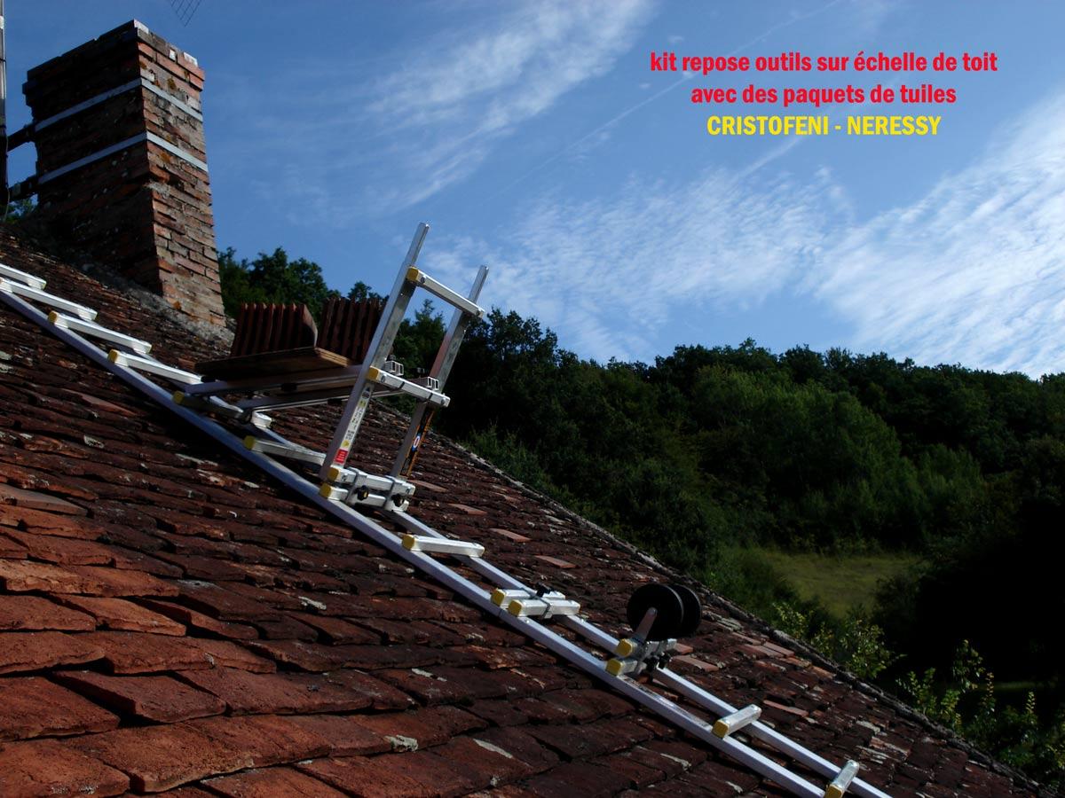 Page n 14 de la galerie des photos du kit repose outils en vue de pr s sur une echelle de toit - Location echelle de toit ...